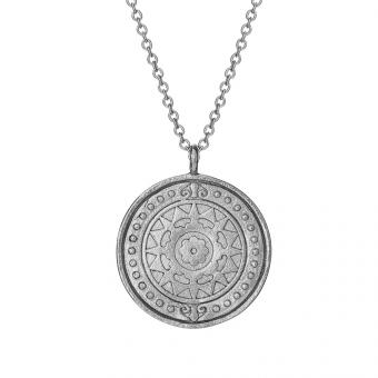 Naszyjnik ASTRO srebrny medalion