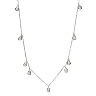 Naszyjnik SOLAR srebrny z łezkami