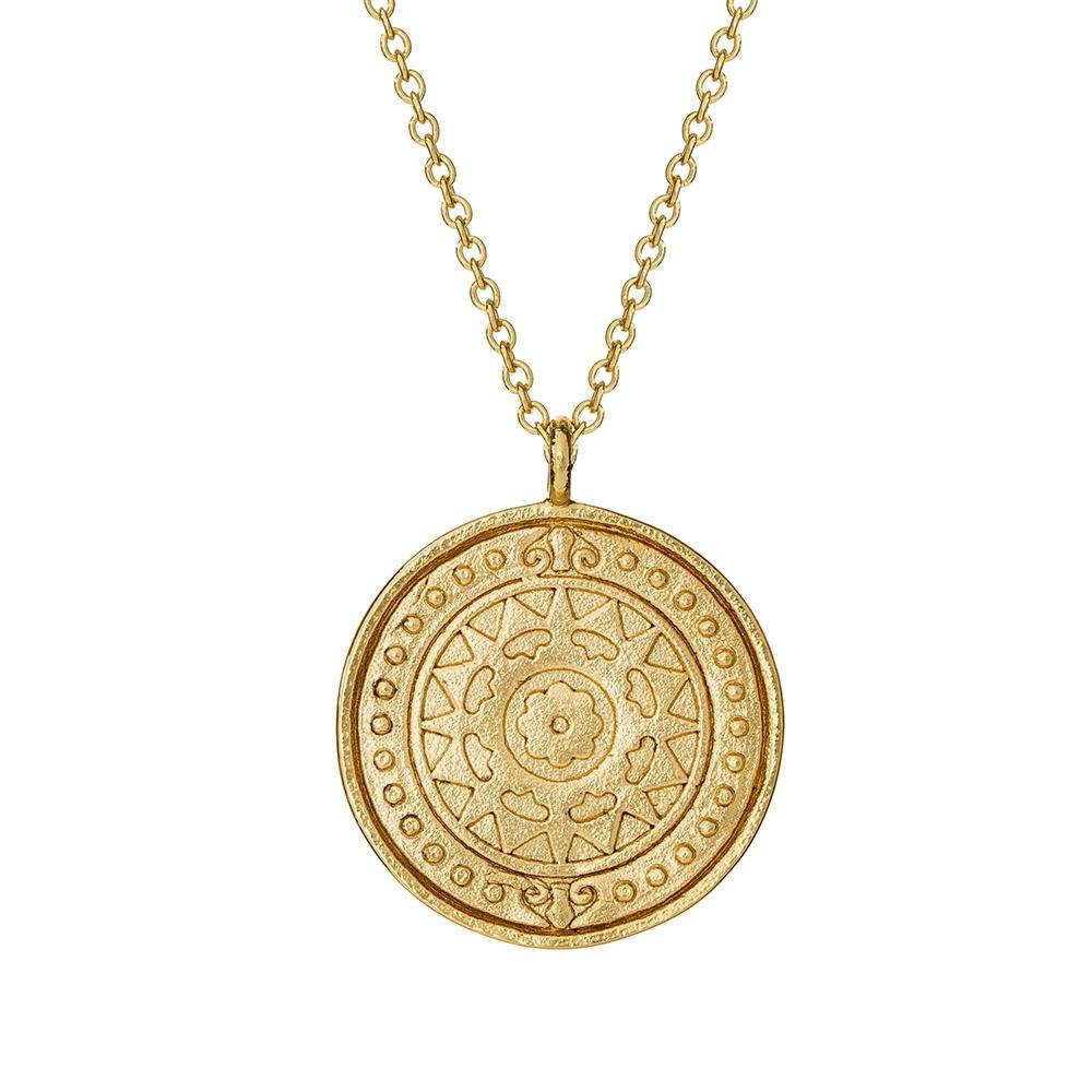 Naszyjnik SKY srebrny pozłacany medalion