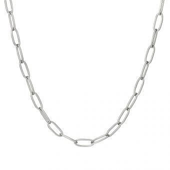 Naszyjnik TRENDY srebrny z dużymi oczkami