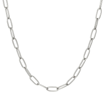 Naszyjnik URBAN CHIC srebrny z dużymi oczkami