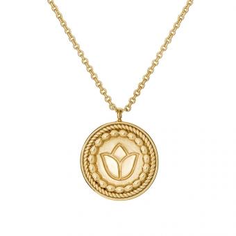 Naszyjnik ROSALIE srebrny pozłacany medalion