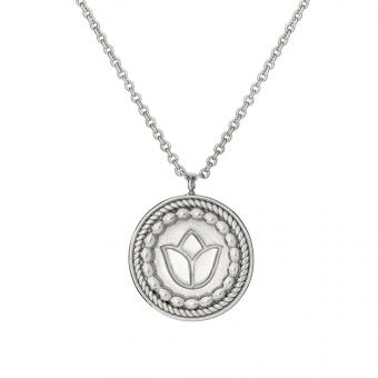 Naszyjnik ROSALIE srebrny medalion
