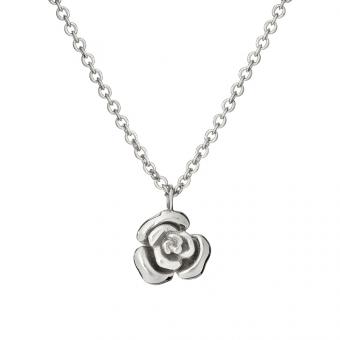 Naszyjnik ROSALIE srebrny z różyczką