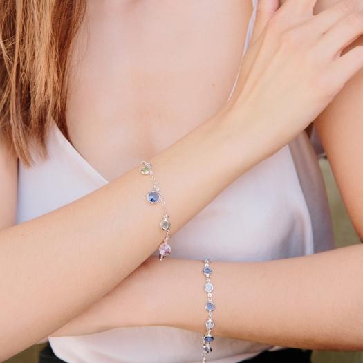 Bransoletka AIDA srebrna z kryształami Swarovskiego
