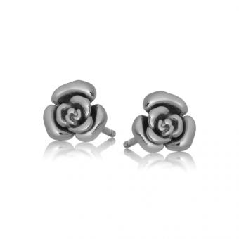 Kolczyki ROSALIE srebrne różyczka