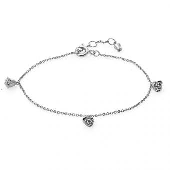 Bransoletka ROSALIE srebrna z różyczkami