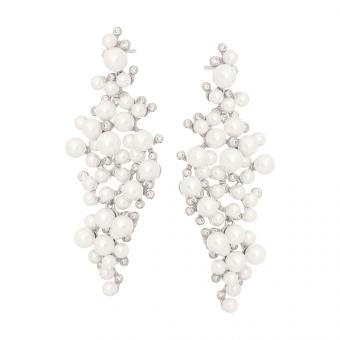Kolczyki CEREMONY srebrne z cyrkoniami i perłami