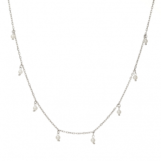 Naszyjnik ARIEL srebrny z perłami