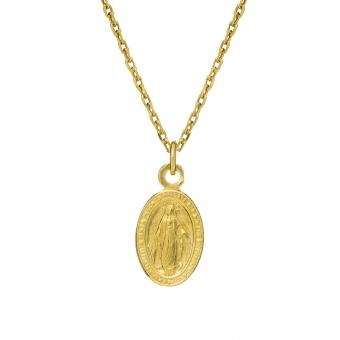 Naszyjnik URBAN CHIC srebrny pozłacany z medalikiem