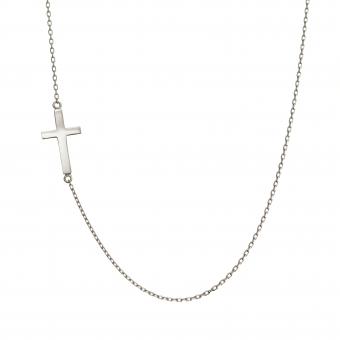 Naszyjnik celebrytka BELIEVE srebrny z krzyżykiem