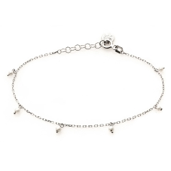 Bransoletka na nogę CLASSY srebrna z perłami