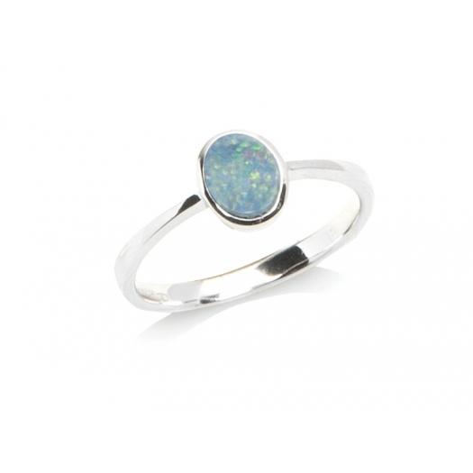 Pierścionek OPAL srebrny z naturalnym kamieniem opal