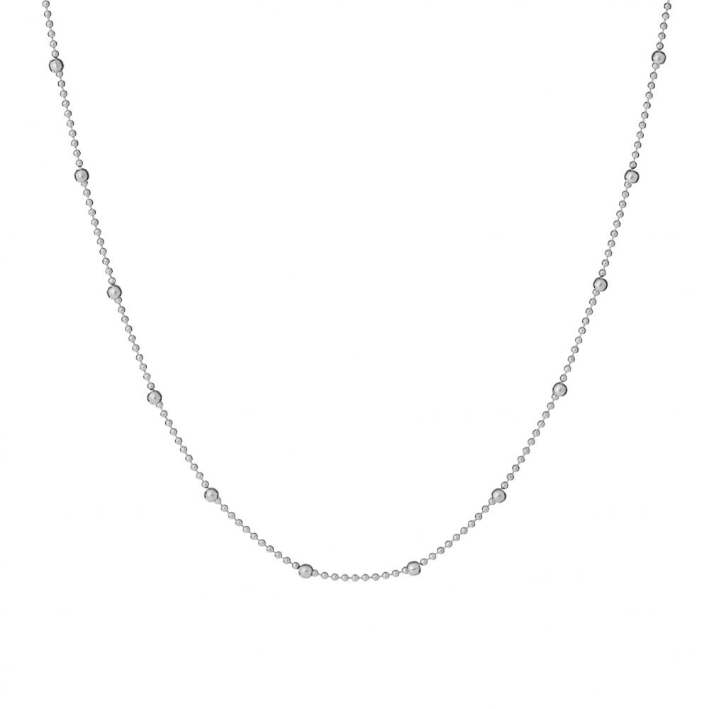 Choker TRENDY srebrny z kuleczkami