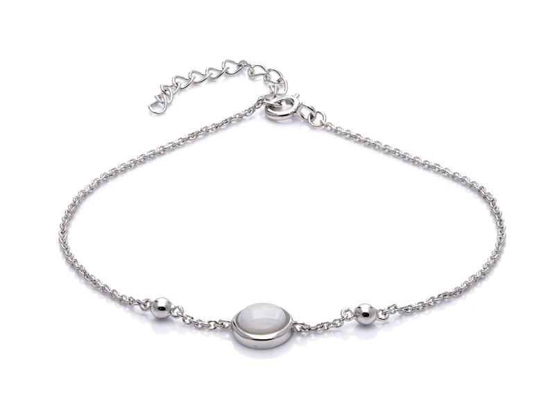 Bransoletka OPAL srebrna z naturalnym kamieniem opal