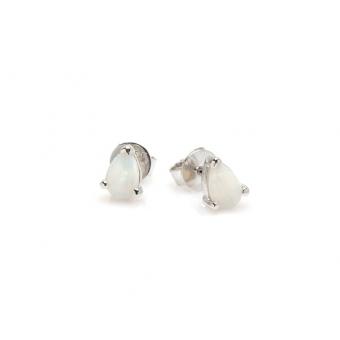 Kolczyki OPAL srebrne z naturalnym kamieniem opal