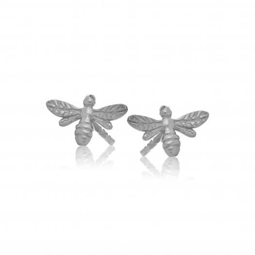 Kolczyki ROSALIE srebrne z pszczółką