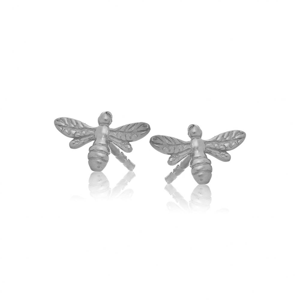Kolczyki HIPPIE srebrne z pszczółkami