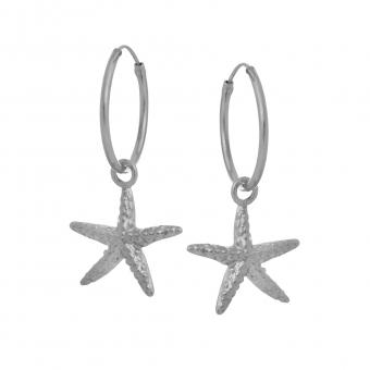 Kolczyki ARIEL srebrne z rozgwiazdą
