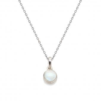 Naszyjnik OPAL srebrny z naturalnym kamieniem opal