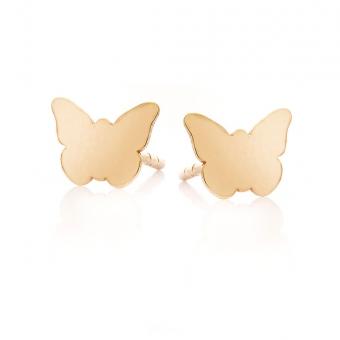 Kolczyki MINI złote motylek