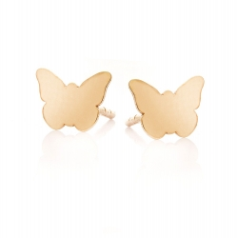 Kolczyki SOFT złote motylek