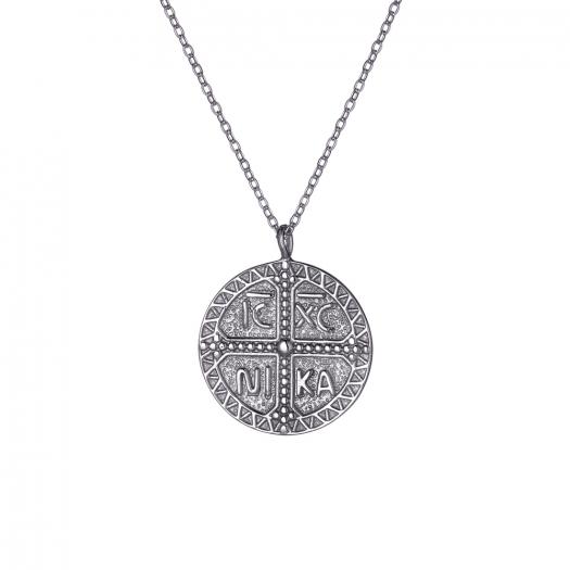 Naszyjnik ASTRO srebrny amulet