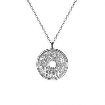 Naszyjnik ASTRO srebrny z japońską monetą
