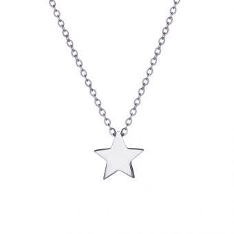 Naszyjnik BELIEVE srebrny z gwiazdką