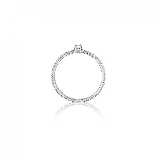 Pierścionek DIAMONDS białe złoto 585 z brylantami