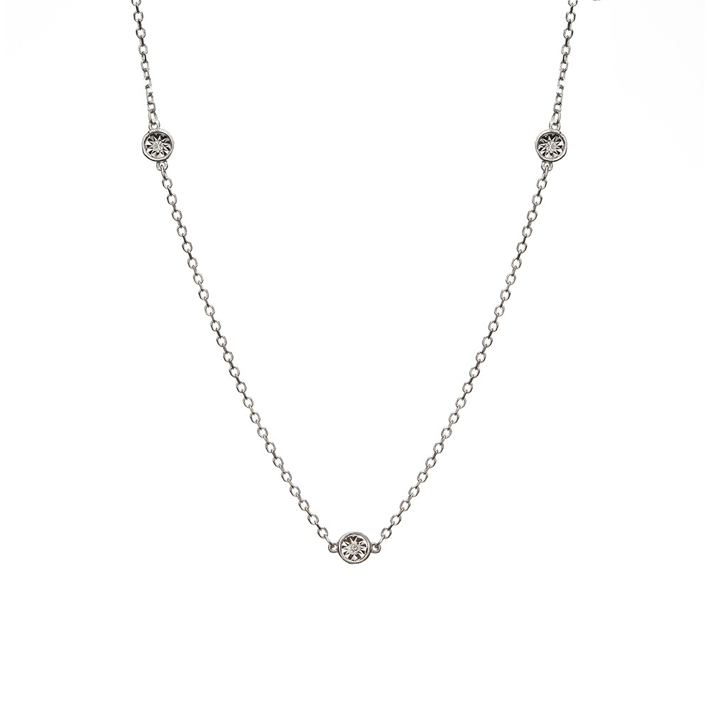 Naszyjnik DIAMONDS białe złoto 585 z brylantami