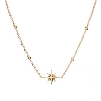 Naszyjnik ASTRO srebrny pozłacany z gwiazdką