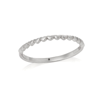 Pierścionek URBAN CHIC srebrny z serduszkami