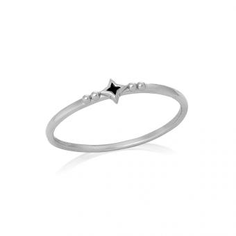 Pierścionek ASTRO srebrny z gwiazdką