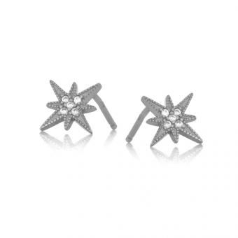 Kolczyki ASTRO srebrne z gwiazdą