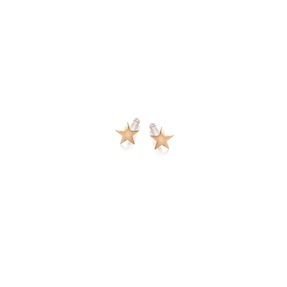 Kolczyki SKY srebrne pozłacane gwiazdki