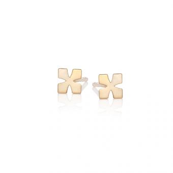 Kolczyki URBAN CHIC srebrne pozłacane krzyżyki