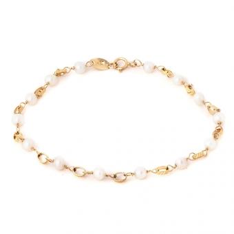 Bransoletka DOLCE VITA złota z perłami