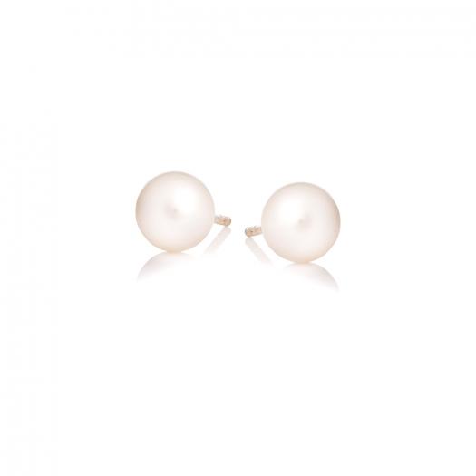 Kolczyki DOLCE VITA złote z perłami 5 mm