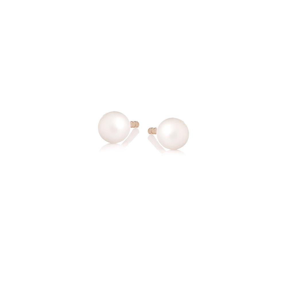 Kolczyki DOLCE VITA złote z owalnymi perłami