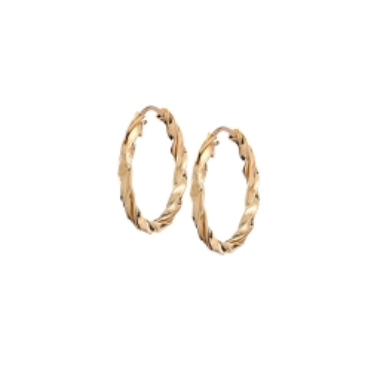 Kolczyki GOLDEN EYE złote koła 14 mm