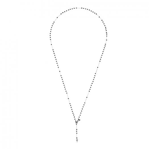 Naszyjnik URBAN CHIC srebrny z kryształkami i krzyżykiem
