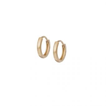 Kolczyki SOFT złote kółka 1,2 cm