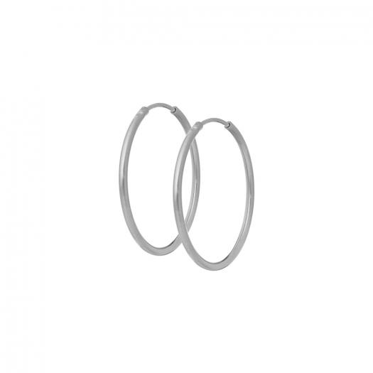 Kolczyki URBAN CHIC srebrne koła 3 cm