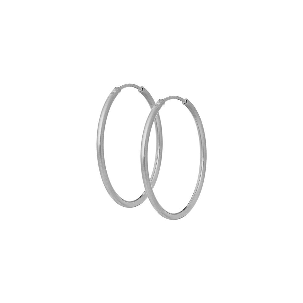 Kolczyki TRENDY srebrne koła 3 cm