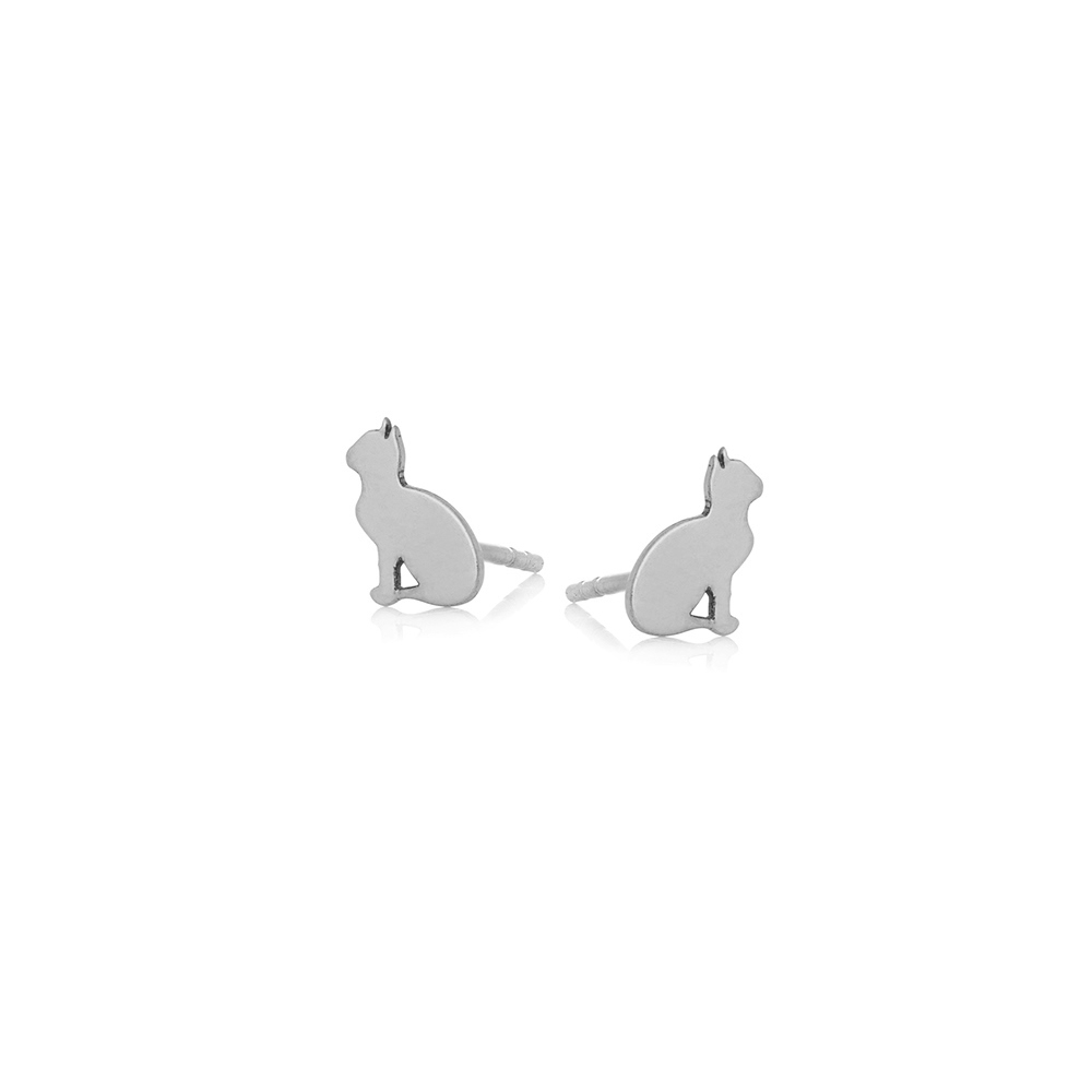 Kolczyki MINI srebrne z kotkami