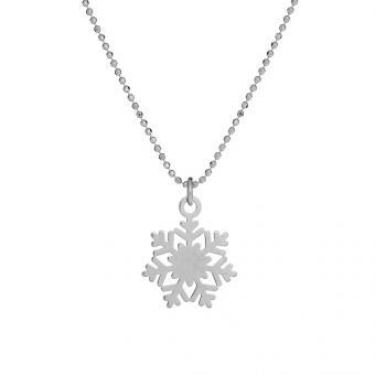Naszyjnik MINI srebrny ze śnieżką