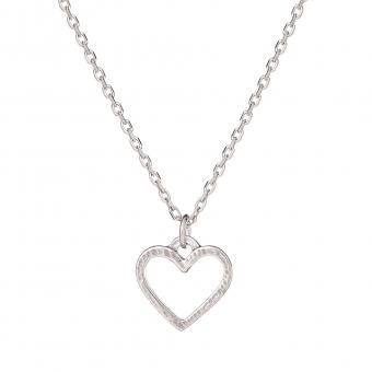 Naszyjnik MINI srebrny z sercem
