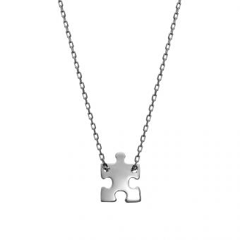 Naszyjnik celebrytka BELIEVE srebrny z puzzlem