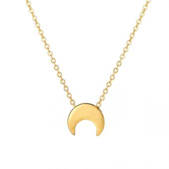 Naszyjnik BELIEVE srebrny pozłacany z księżycem